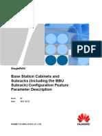 Base Station Cabinets and Subracks (Including the BBU Subrack) Configuration(SRAN12.1_02)
