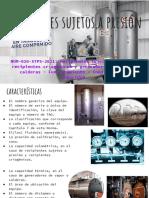 RECIPIENTES SUJETOS A PRESION