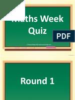 Maths Week Quiz