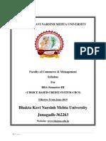 Bba Sem III, (New) 2019