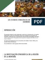 Los Estudios Etnológicos en Guerrero