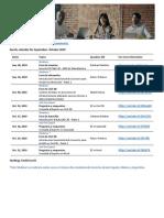 Programa de Eventos Sep-Oct 2019