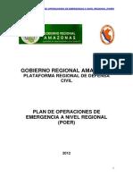 Plan de Operaciones de Emergencia a Nivel Regional