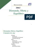 Clase 02 Oferta Demanda y Equilibrio