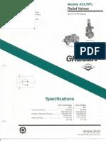 V80707 Gresen KCL-RPL Relief Valve Specifications