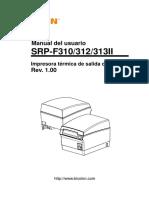 Manual Srp-f310312313ii User Spanish Rev 1 00