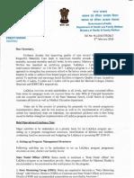 LaQshya Guidance Note Letter From Secretary HFW