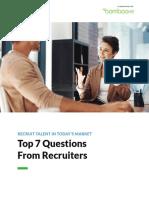 recrutare top 7 intrebari