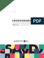 Cronograma Semana de las Artes y el Diseño 2019