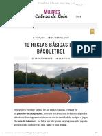 10 Reglas Básicas Del Básquetbol - Mujeres Cabeza de León