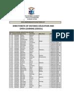 cbu 2018 successful candidates