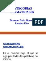 1. CATEGORIA GRAMATICALES