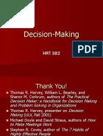 Decision Making 382