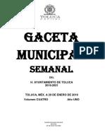 Código reglamentario municipio de Toluca