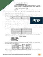 Pratice Sheet Java - If Switch