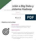 Clase I - Introducción a Big Data y Al Ecosistema Hadoop