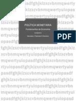 Política Monetaria ECONOMIA