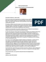Carta de Bienvenida Teorías de Las Organizaciones