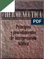 Principios y procedimientos de interpretación bíblica