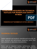 Standard requirement for textile workspace