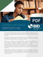 Catalogo Cursos BID INDES