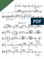 Sor - Etude - Op.44 n.13