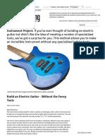 Construir Uma Guitarra Elétrica - Sem as Ferramentas de Fantasia