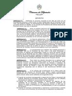 LP-27-S-2014 Ratifica El Convenio de Reciprocidad Celebrado Entre El Gobernador de La Provincia y El Instituto Nacional de Previsión Social