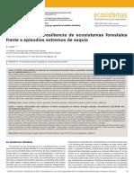 Vulnerabilidad y Reciliencia de Los Ecosistemas Forestales
