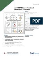 A Comprehensive, CRISPR-based Functional Analysis of Essential Genes in Bacteria