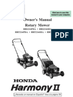 Honda Harmony II mower