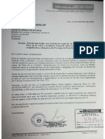 Carta al Ministro de Justicia
