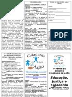 FOLDER - 1º FÓRUM DE DEBATES CIDADANIA EM AÇÃO