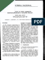 Os Atentados Ao Meio Ambiente;Responsabilidade e Sanções Penais.(p.117-139)