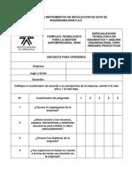 Punto 8. Instrumentos de Recolección de Datos