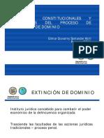 Garantias Constitucionales Procesales Extincion Dominio Gilmar Santander Colombia