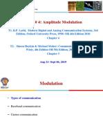 ECE EEE F311 Amplitude Modulation Aug 21 2019