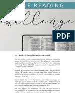 2019 Bible Reading-Challenge Plan