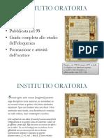Presentazionene su INSTITUTIO ORATORIA.pptx