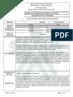 1. Programa de Formación Instalaciones Electricas