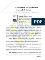 EXPLORA. Cuestionario Para La Orientación Vocacional y Profesional