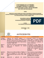 Diapositivas de La Tesis Para Presentar