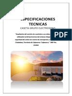ESPECIFICACIONES TECNICAS CASETA
