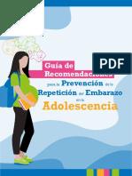 Guia Recomendaciones Prevencion Repeticion Embarazo Adolescencia