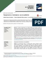 Vasopresor e inotropico en pediatría, cardiología de Mexico