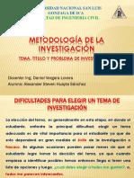 TITULO Y PROBLEMA DE LA INVESTIGACIÓN