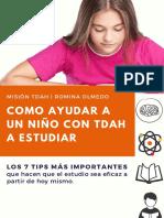 Como ayudar a estudiar a un niño con TDAH