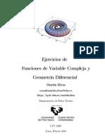 Ejercicios de Funciones de Variable Compleja y Geometría Diferencial - Martin RIvas
