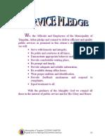Citizens Charter Performance Pledge