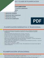 Tema 4 Los Tipos y Clases de Planificacion